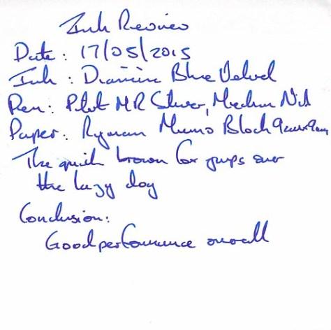 Diamine 150th Anniversary Blue Velvet - Ryman Memo Block