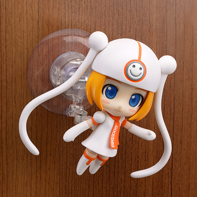 The suction stand is used on Nendoroid Gumako