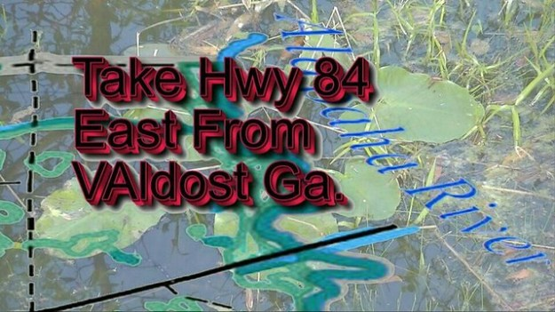 Take Highway 84 east from Valdosta GA.
