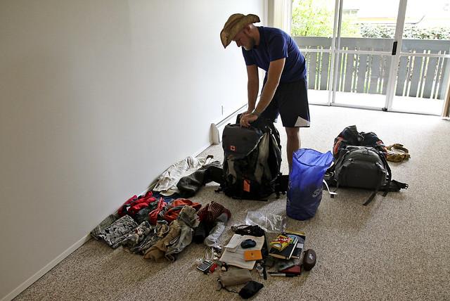 travis, unpacking