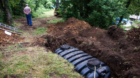 Installation septic tank
