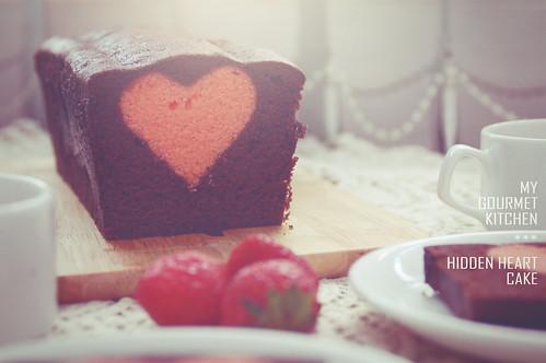 hidden heart cake