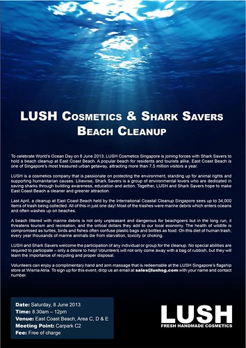 WOD-Lush Cosmetics & Shark Savers Cleanup
