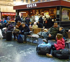 Families with small children, Waverley Station