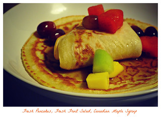 || OBSERVE || SWEET MOMENTS || Fresh Pancakes, Fresh Fruit Salad, Canadian Maple Syrup || ENJOY ||