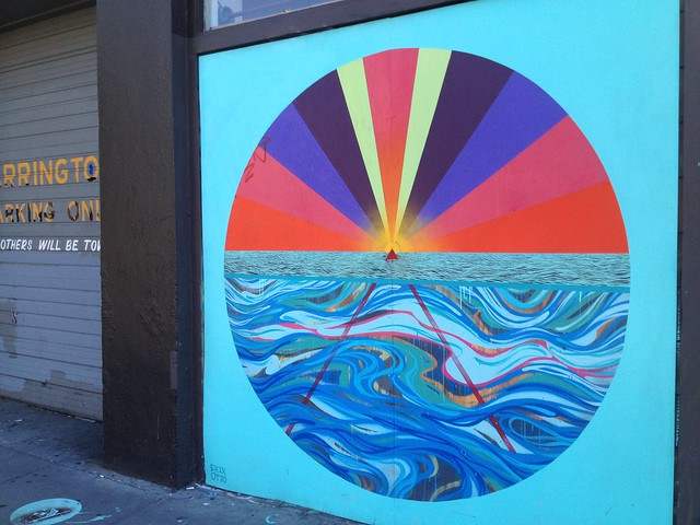 Colorful prism/ocean mural
