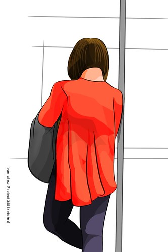 """""""Red Riding Cardigan"""" (#186: Project 365 Sketches)"""