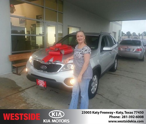 Thank you to Lasonya Stevens on your new 2012 Kia Sorento from Rubel Chowdhury and everyone at Westside Kia! by Westside KIA