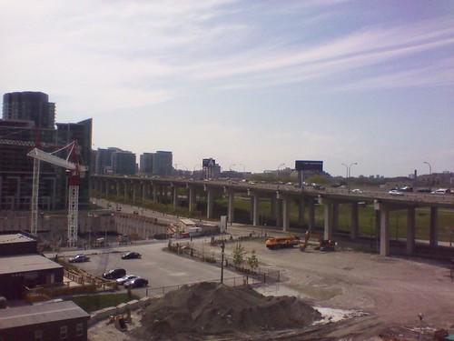 Looking west at the Gardiner Expressway, May 2012