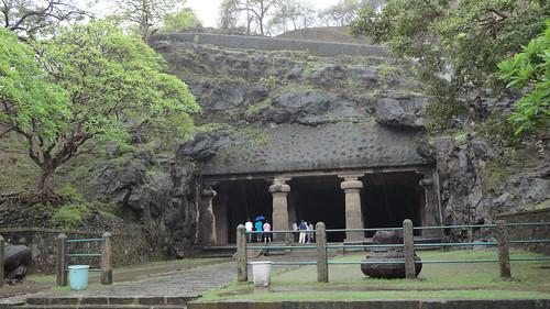 Entrance to main Elephanta caves