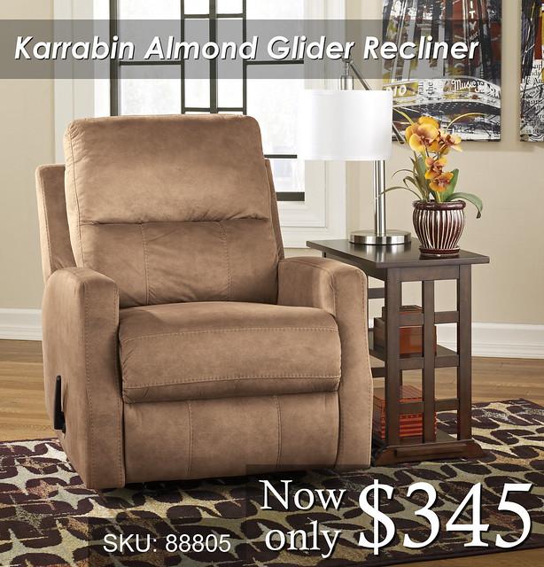 Karrabin Glider Almond Recliner