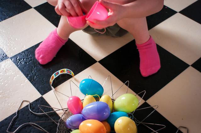 sadie easter socks and eggs