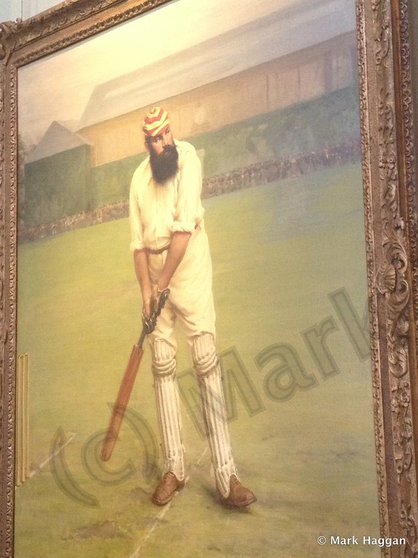 A painting of WG Grace in the Long Room at Lord's