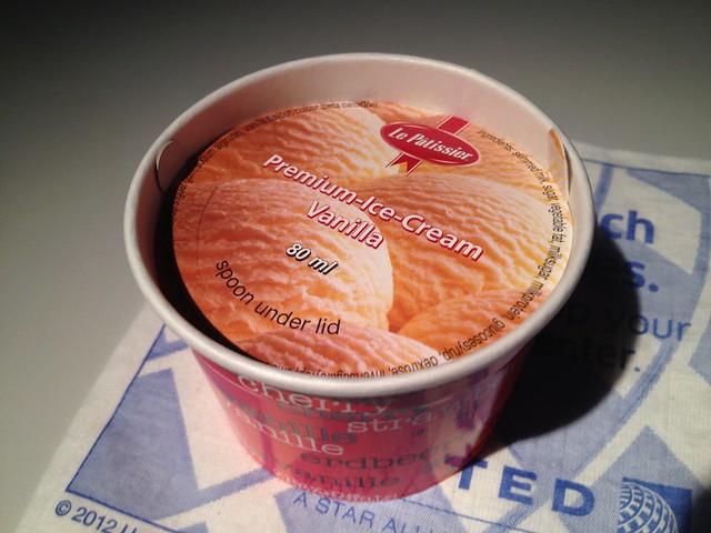 Vanilla ice cream - United Airlines