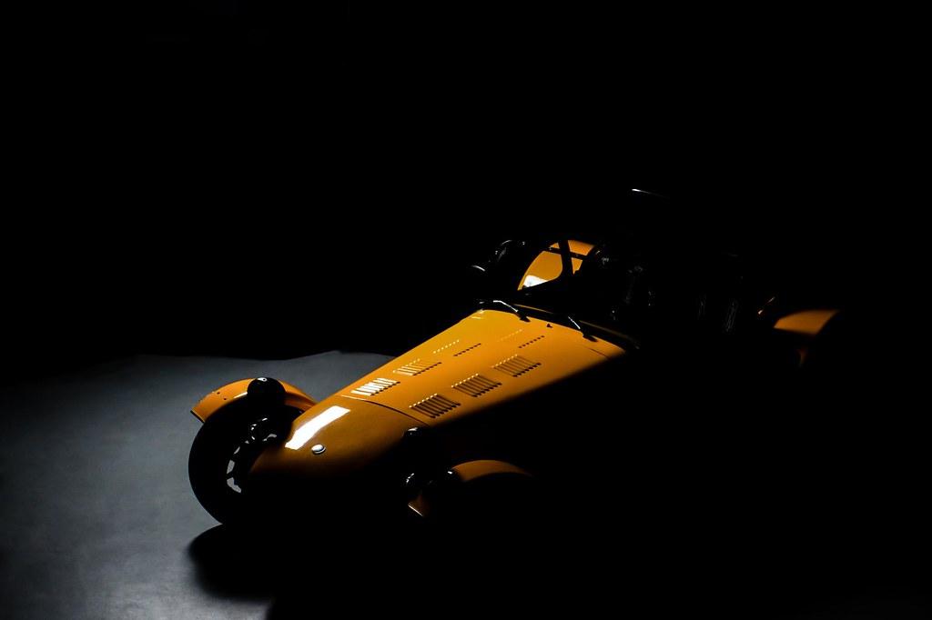 Yellow Caterham Super 7 Studio shoot.