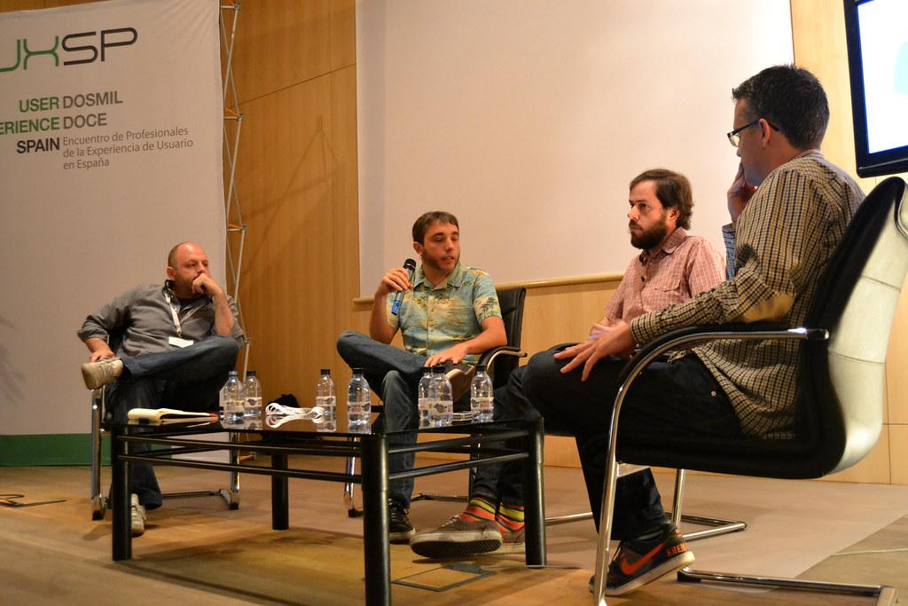 Nacho Puell, Álvaro Ortiz y Álvaro Varona en el UxSpain