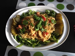 Cold Thai noodle salad