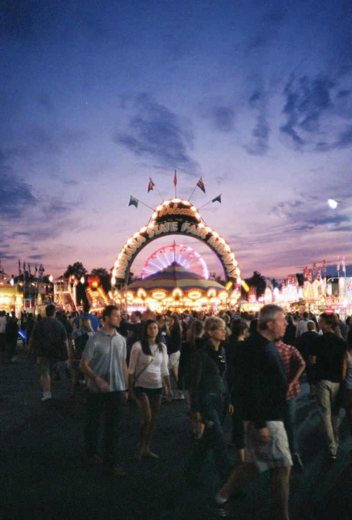 State Fair at dusk