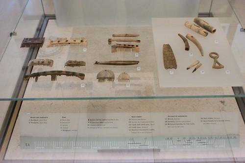 Bone combs and decorative work