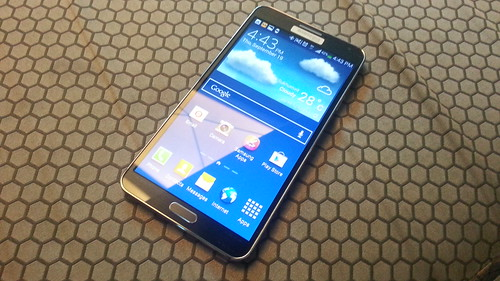 Samsung Galaxy Note 3 ด้านหน้า