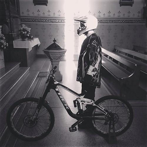 Mario Mercorella aus Neerach gewinnt mit diesem Bild den Hauptpreis der #velolove14-Aktion der Bike Days. Bild: Mario Mercorella