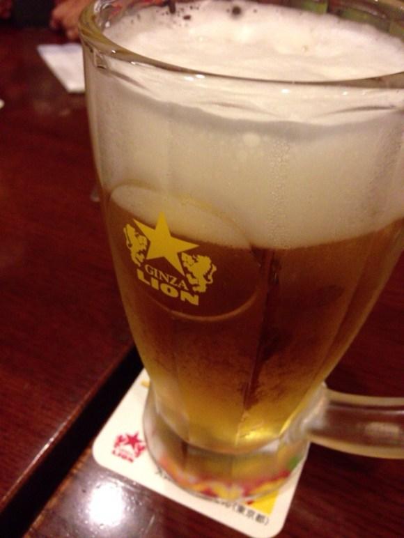 ライオンで昼ビール