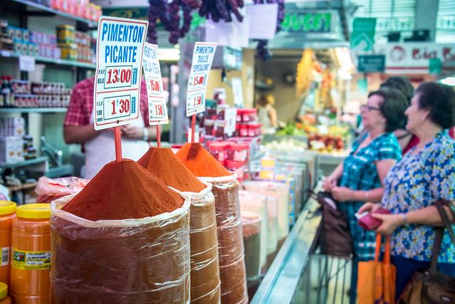 Pimentón op de Mercado Central Valencia