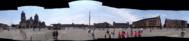 Panorama: Zocalo in Mexico City