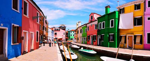 Panorama of Burano, Venezia, Italy