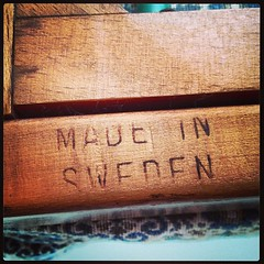 Stamp on the &quotSvensson&quot Chair.