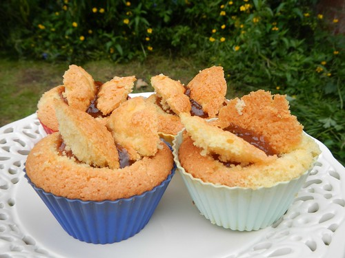 Rhubarb and Ginger Jam butterfly cakes
