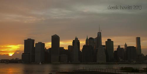 lower manhattan sunset by Derek Hewitt Photography