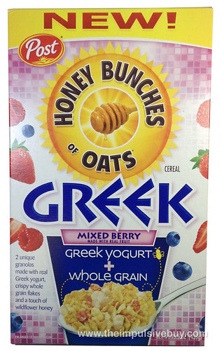 Post Honey Bunches of Oats Greek Mixed Berry Cereal