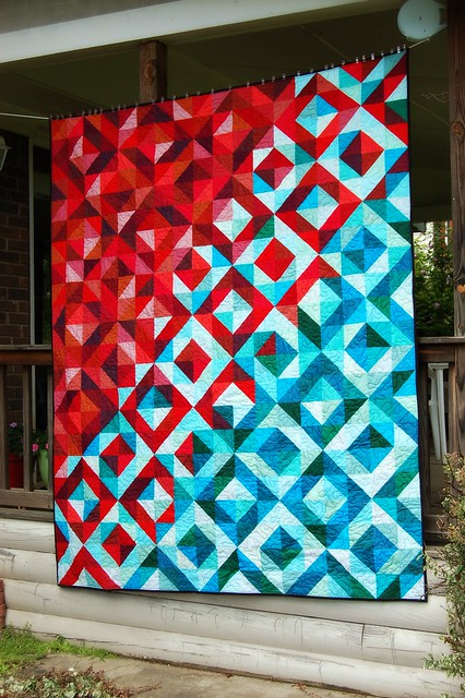 Lava Meets Sea Quilt