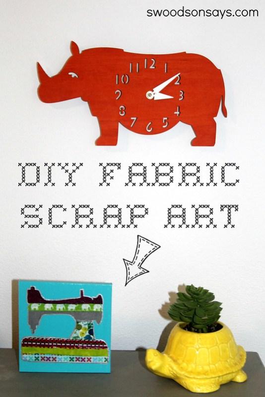 fabric scrap art