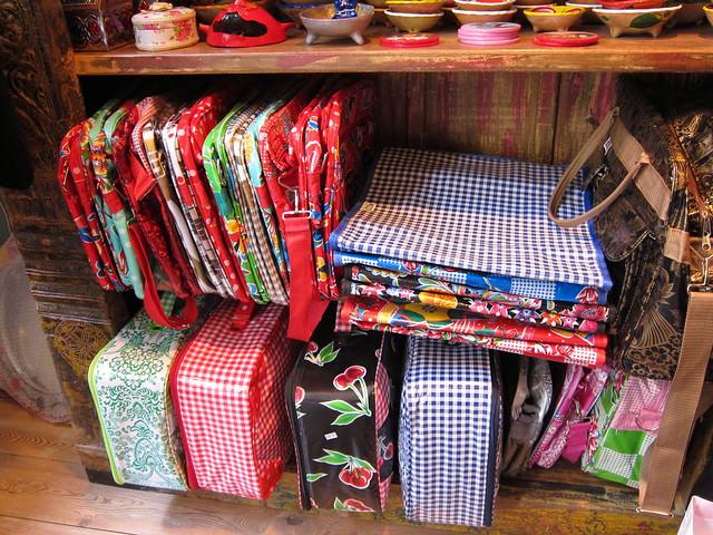 Tikal oil-cloth bags