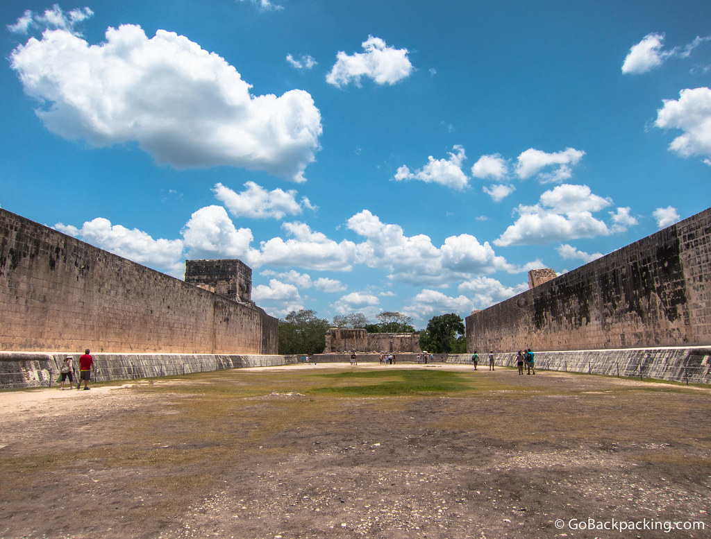 The walls of the Great Ball Court are 8 meters high