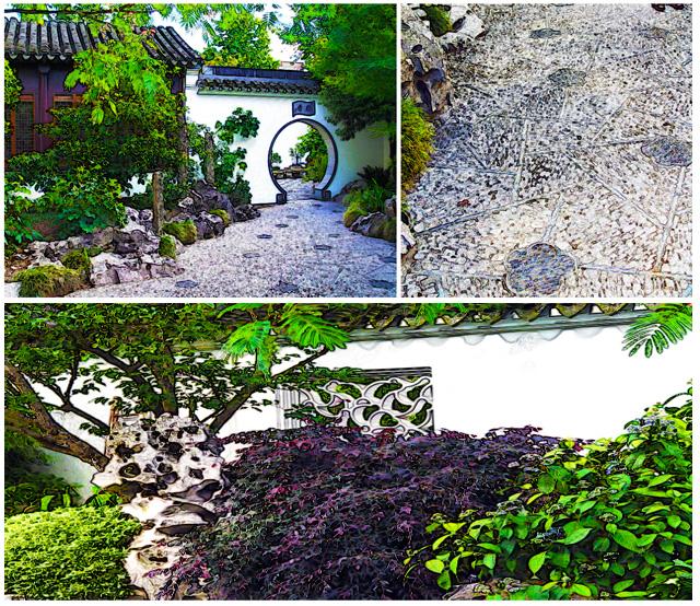 Scholars garden - Plum mosaic