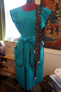 Teal and Atom Dress Bias Binding