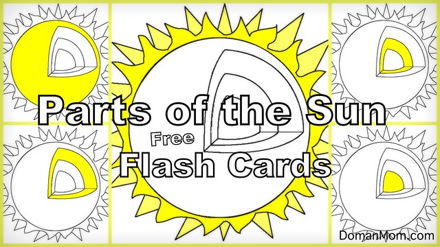 Parts of the Sun Free Flash Card Video