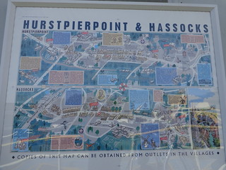 Pictorial map at Hassocks station;never had time to notice it before, but it looks worth searching for in local shops.DSC00850