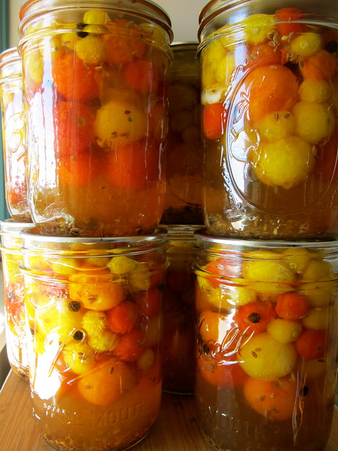 Putting Up: Sweet Cherry Tomato Pickles