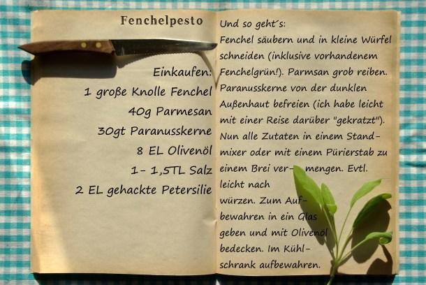 Einkaufszettel Fenchelpesto by glasgeflüster