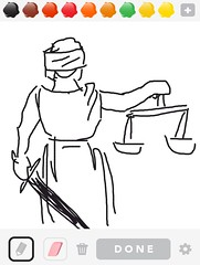 JUSTICE, Draw Something App