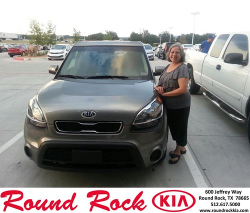 Thank you to Yolanda Frasquillo on your new 2013 Kia Soul from Michael Glass and everyone at Round Rock Kia! by RoundRockKia