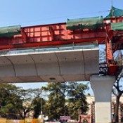 India - Telangana - Hyderabad - Streetlife - Under Construction Metro Rail - 2.