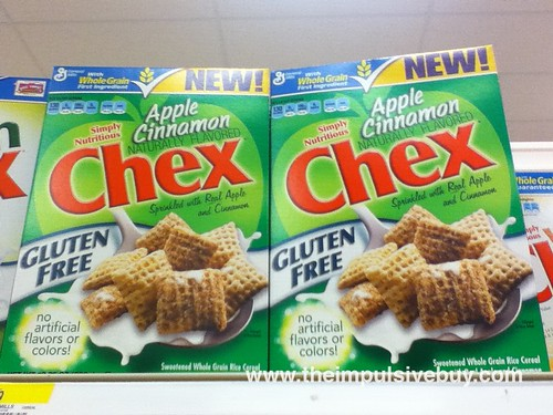 Apple Cinnamon Chex on shelf