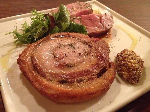 豚バラ肉のポルケッタ&豚肩ロースのロースト@クオーレ・フォルテ(Cuore forte)