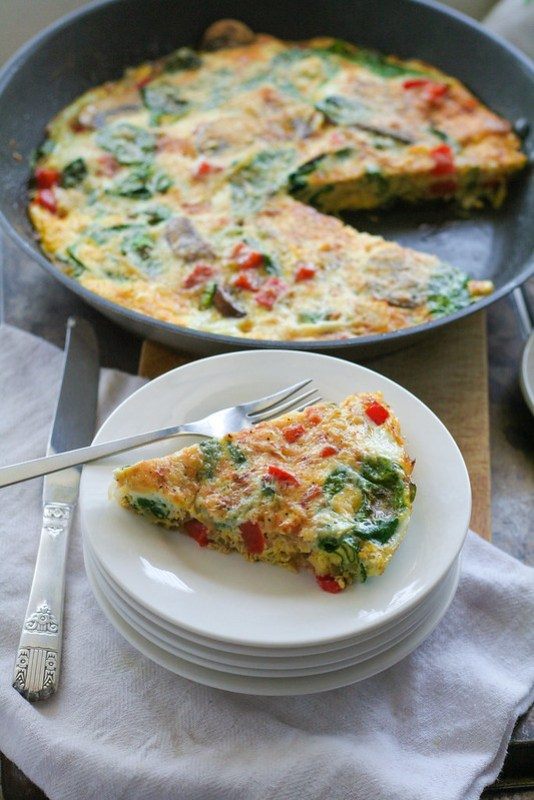 vegetable frittata with dill & parmesan [ inthiskitchen.com ]