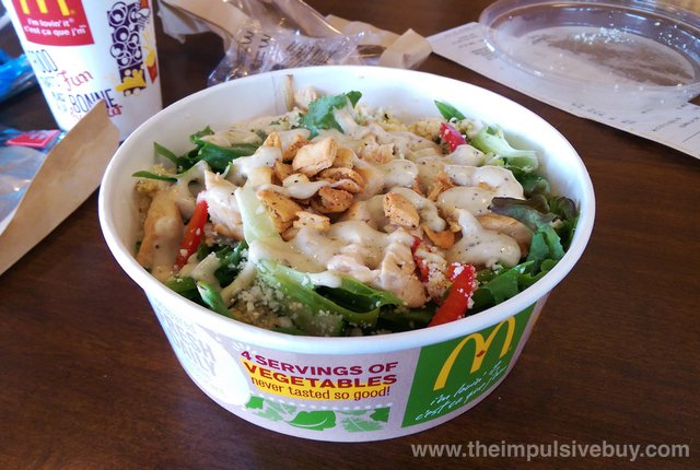 McDonald's I'm Greek-ing Out Salad Bowl with Grilled Chicken 3